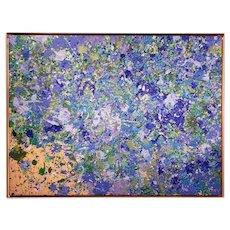 Walasse Ting Abstract Oil Painting Little Flowers Under Moonlight 1968