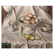 Frederick Rhodes Sisson Oil Painting Still Life at the Breakfast Table
