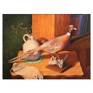 Robert Collier Pastel Painting Still Life with Pheasant NH