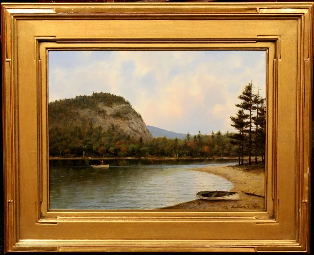 William R Davis Oil Painting Landscape Echo Lake Conway