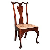 Philadelphia Queen Anne Walnut Side Chair c. 1755, Workshop of William Savery