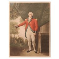 After Lemuel Francis Abbott, Early 20th c Color Mezzotint of English Golfer Henry Callendar Esq.