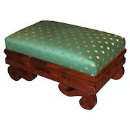 Classical Mahogany Ottoman of Boston Origin
