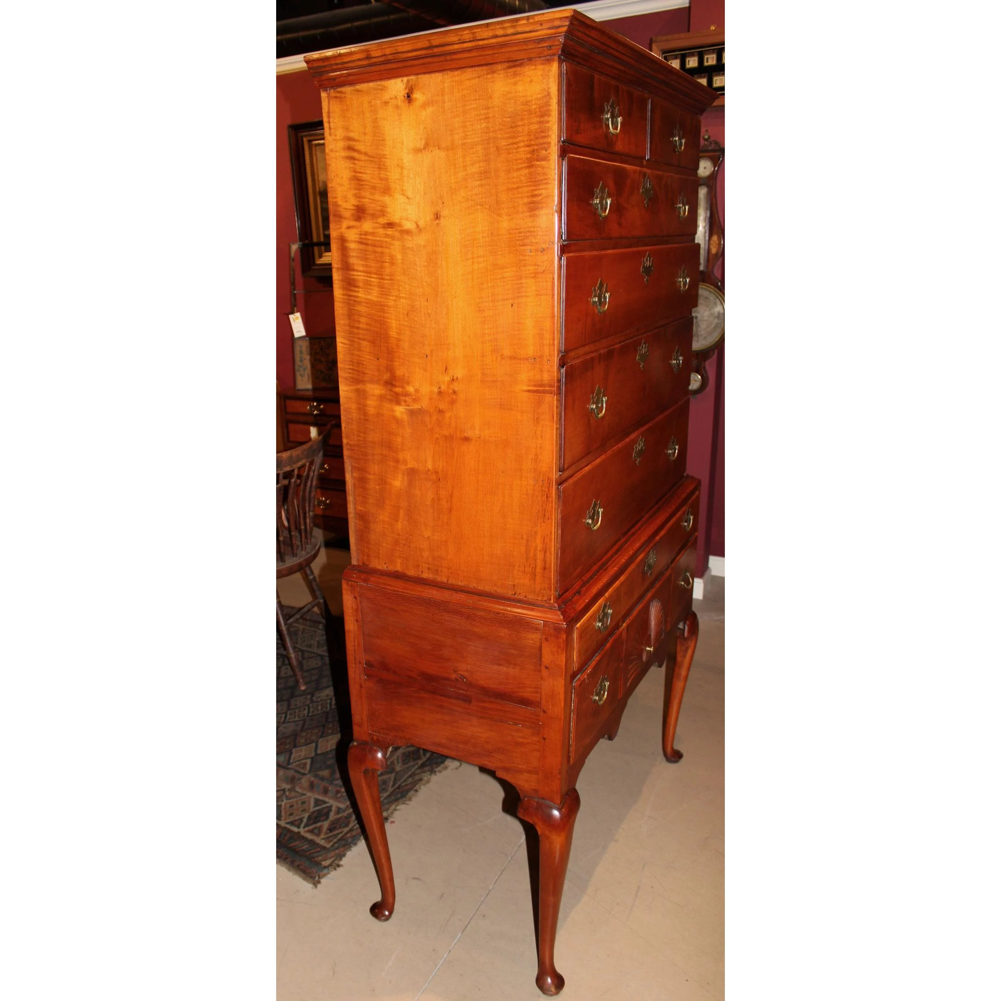 anne queen mahogany image furniture of drawers tallboy chest antique m s highboy style