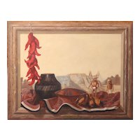 Al Radomski Trompe L'oeil Native American Oil Painting - Hopi Offering
