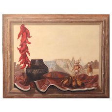Al Radomski Trompe L'oeil Native American Oil Painting - Hopi Offering