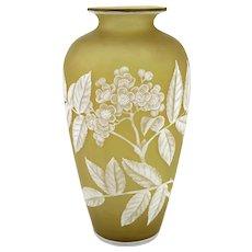 19th c Thomas Webb & Sons Cameo Glass Vase