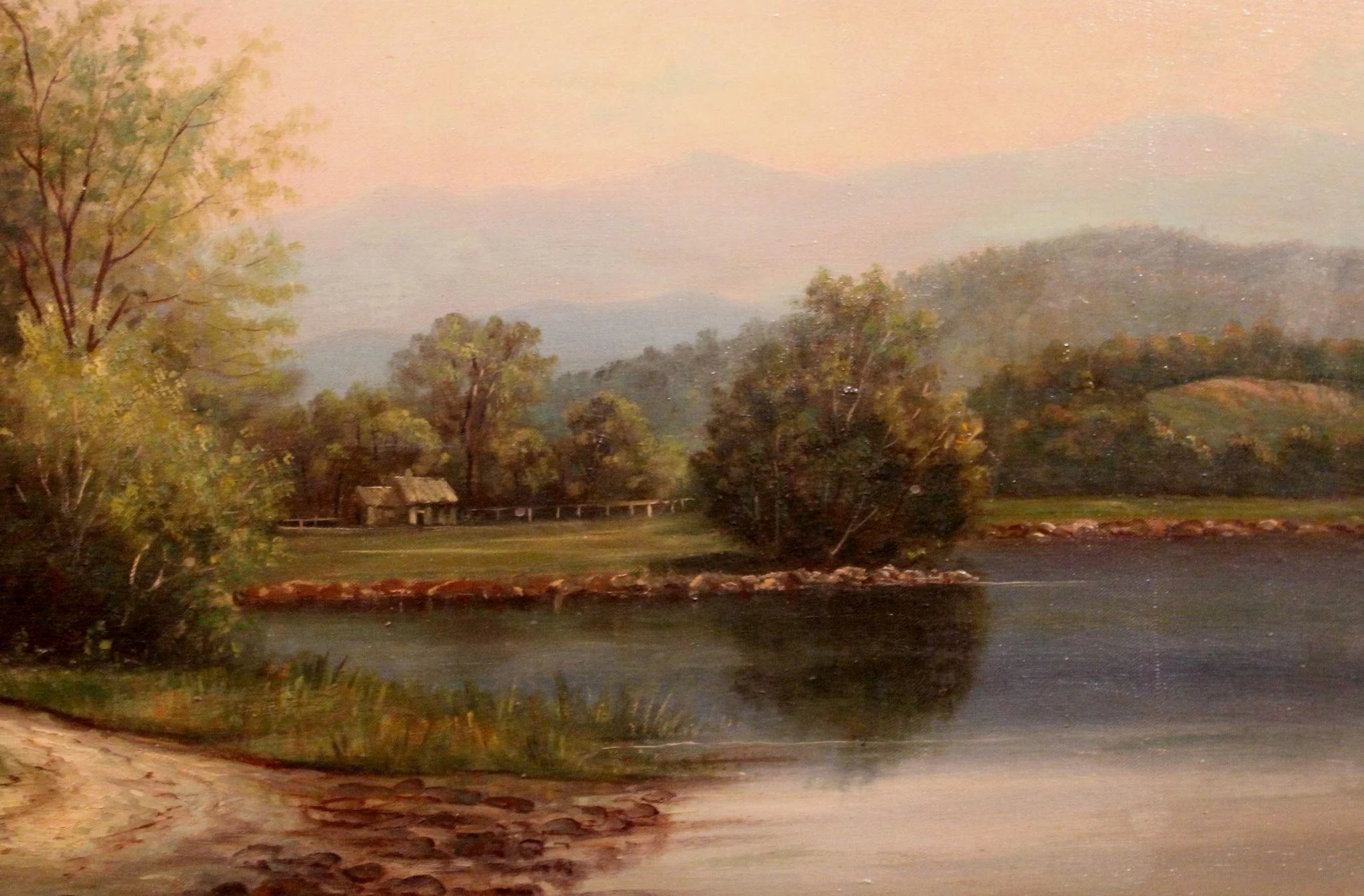 D A Fisher Oil Painting Nh Landscape Of Conway Meadows