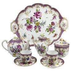 Zurich Porcelain Tête-à-Tête Tea Set in the Meissen Style circa 1770-1790