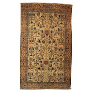 19th / 20th c Rare Color Persian Tribal Scatter Rug