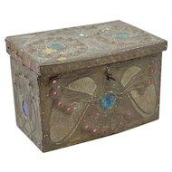 Rare French Art Nouveau Box with Jewels Signed Alfred Daguet Paris 1909
