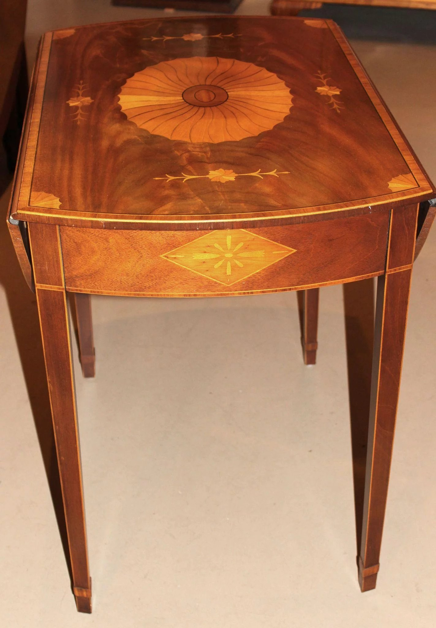 Baker Furniture Inlaid Pembroke Table New Hampshire