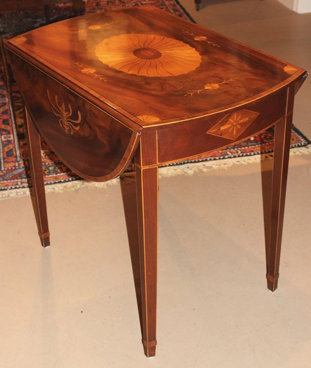 Baker Furniture Inlaid Pembroke Table