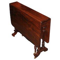 19th Century Rosewood Drop Leaf Tuckaway Table