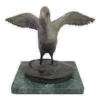 Barbara Faucher Signed Bronze of a Canada Goose