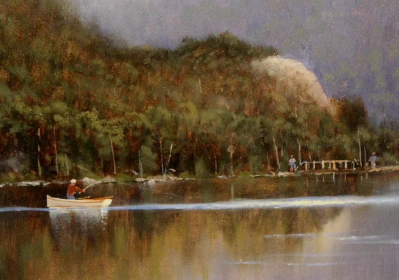 William r davis landscape oil painting trout fishing for Best trout fishing in new hampshire
