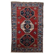 Kazak Scatter Rug or Carpet circa 1900