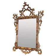 Pierce Carved Polychrome Giltwood Rococo Style Mirror