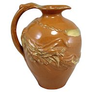 Rare Matt Morgan Art Pottery Glazed & Gilt Ewer or Pitcher circa 1883-1884