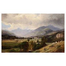 Joseph Antonio Hekking Oil Painting Landscape - The Ward Homestead Poultney VT