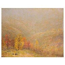 John Joseph Enneking Landscape Oil Painting - Golden Hillsides 1893