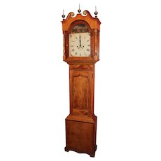 18th c English Tall Case Clock with Rare Automaton Adam & Eve Movement