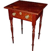 Sheraton Country One Drawer Stand with Birds Eye Maple Drawer Front