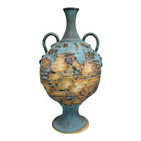 Polychrome Classic Form Art Pottery Handled Vase