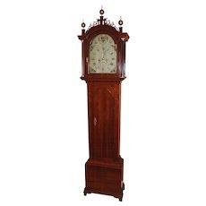 Joseph Mulliken Concord MA Cherry Tall Case Clock circa 1790