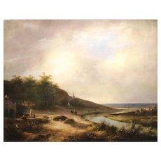 17th c Dutch Oil Painting Landscape - School of Jacob Isaacsz Van Ruisdael