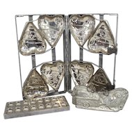 Group of Three Vintage Metal Chocolate Molds