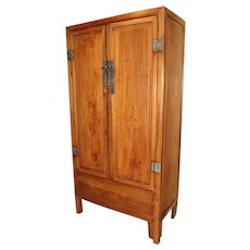 19th c Chinese Hardwood Tall Cabinet