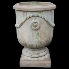 Composition Stone Urn on Plinth from Sandstone Gardens