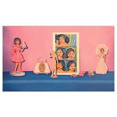 "Nancy ""Nan"" Hill Modernist Oil Painting - The Cake"