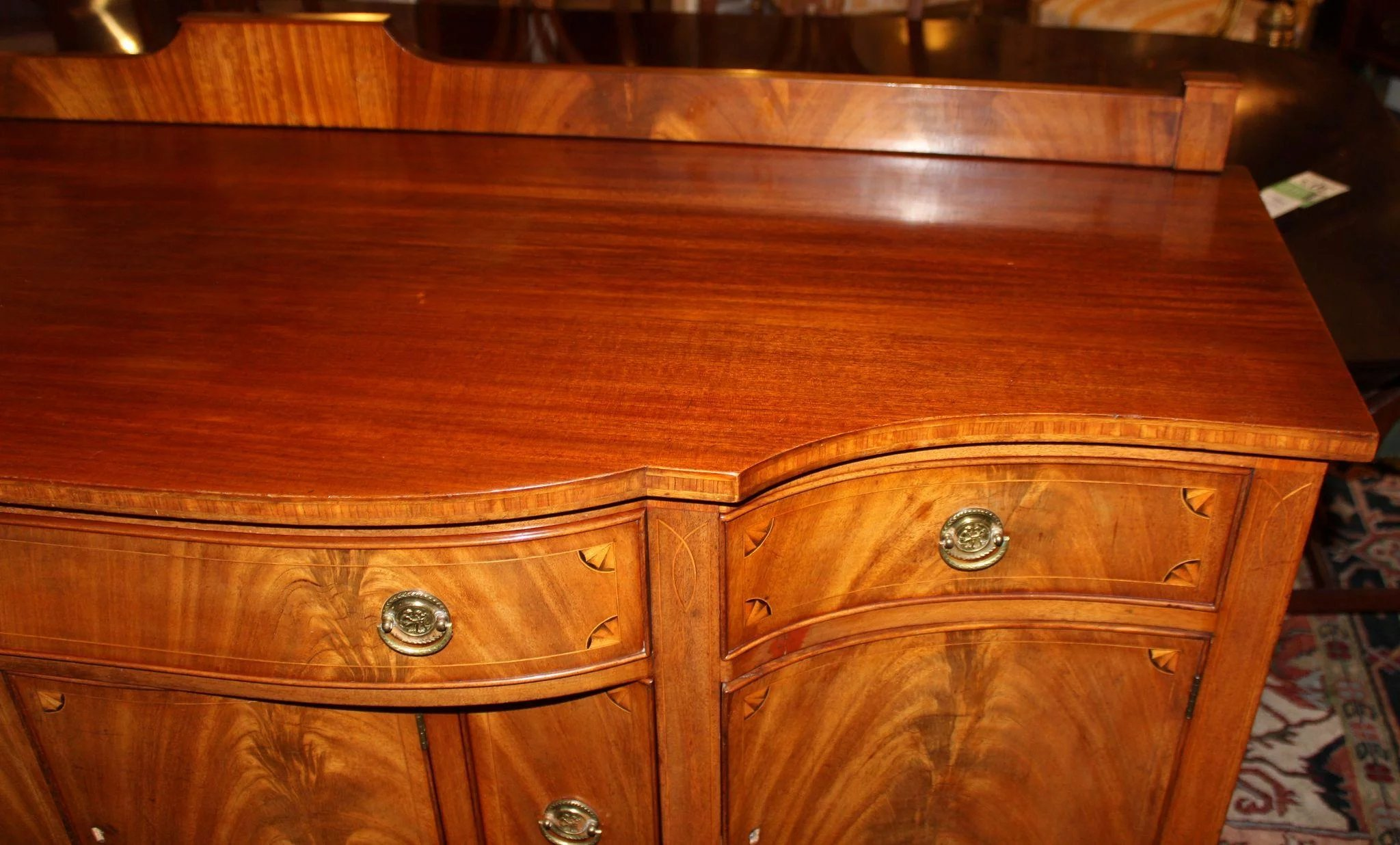 Hepplewhite Style Paine Furniture Sideboard With Crotched