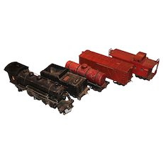 5 pc Buddy L Outdoor Railroad Toy Train Set, 1920's