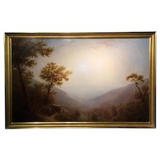 Erik Koeppel Large Landscape Oil Painting - Sunrise Over The Hudson