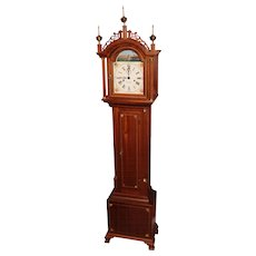 Foster S. Campos Mahogany Case Grandmother Tall Clock Pembroke MA