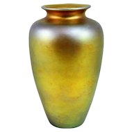 Steuben Gold Aurene Art Glass Vase 1903-1933