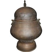 19th / 20th c Middle Eastern or Persian Covered Copper Urn
