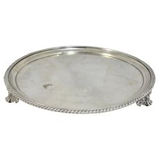 William Bellchambers English Sterling Silver Footed Salver circa 1824