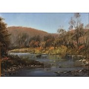 William R. Davis VT Landscape Oil Painting - Ottauquechee River