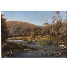 William R. Davis VT Landscape Oil Painting - Ottauquechee River