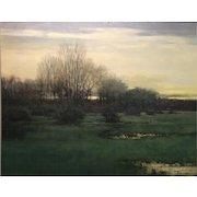 Dennis Sheehan Landscape Oil Painting - Almanac Pond, Nantucket MA 1994