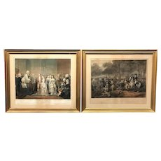 Pair of 19th c Stearns Life of George Washington Prints - The Citizen / The Soldier