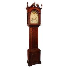 18th Century Pennsylvania Cherry Tall Case Clock with Moon Phase