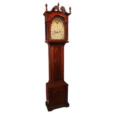 18th Century Pennsylvania Cherry Tall Case Clock with Moon Phase