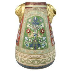Royal Bonn Porcelain Tapestry Vase in the Arts & Crafts Style, circa 1900