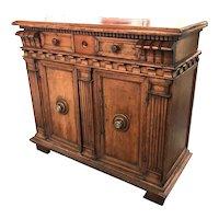 18th Century Italian Walnut Server or Sideboard