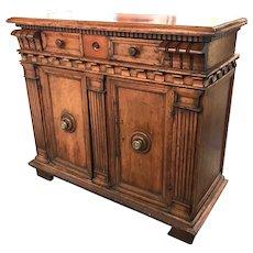18th Century Italian Walnut Two-Door Cupboard